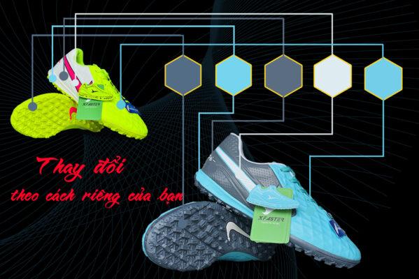 Đặt giày đá bóng theo cách riêng